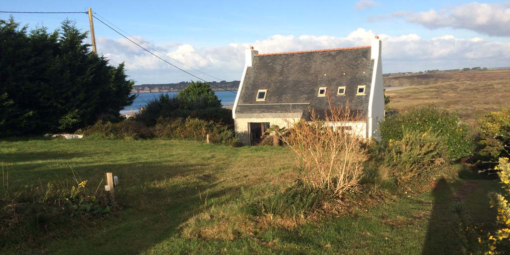 Spacieuse maison, vue mer, Goulien