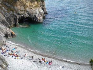 La plage de l'ile vierge